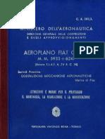 Aeroplano Fiat G. 50 - Istruzioni e Norme Per Il Pilotaggio, Il Montaggio, La Regolazione e La Manutenzione