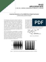 Amplitude Modulation of the AD9850