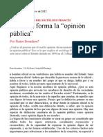 """Como se forma la """"opinión pública"""""""