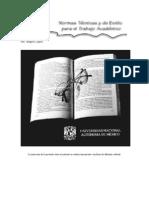 Normas técnicas para el trabajo académico