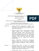 Permen Nomor 19 Tahun 2012 Outsourcing
