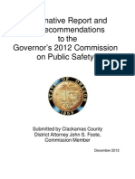 DA John Foote's dissent to the Commission on Public Safety report