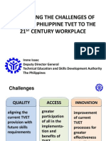 Irene Isaac - Addressing the Challenges of Bringing Philippine TVET