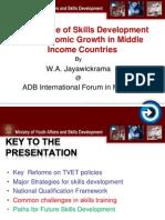 WA Jayawickrama - Importance of Skills Development for Economic Growth