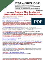 VASSULA RYDEN-THE EUCHARIST INTERCOMMUNION AND ECUMENISM