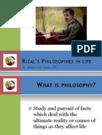 Rizal's Philosophies in life