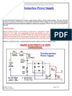 Transformerless Power Supply_Inverting AC DC