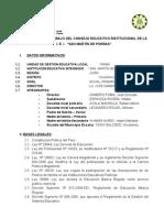 Plan Anual de Trabajo Del Consejo Educativo Institucional De