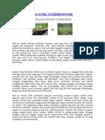 Pertanian Organik vs Hidroponik