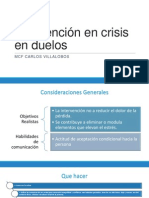 Intervención en crisis en casos de duelo