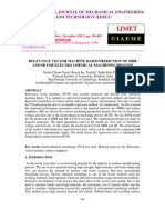 Relevance Vector Machine Based Prediction of Mrrand Sr for Electro Chemical Machining Process