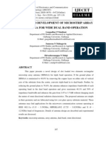 Design and Development of Microstrip Array Antenna for Wide Dual Band Operation