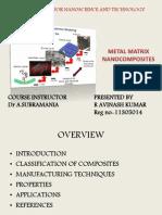 Metal Matrix Nanocomposites