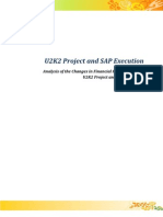 U2K2 Project and SAP Execution