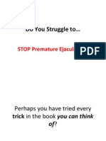 How to keep from premature ejaculation