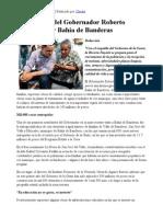 07-12-12 Crónica Nayarita - Intensa gira del Gobernador Roberto Sandoval por Bahía de Banderas