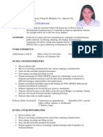 Resume for Canada Employment