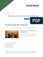 Coursea Certificate
