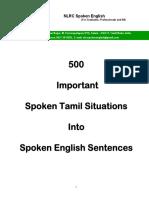 500 Important Spoken Tamil Situations Into Spoken English Sentences - Sample