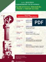 Appuntamenti con la scienza 2012/2013