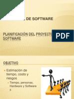 PLANIFICACIÓN DEL PROYECTO DE SOFTWARE