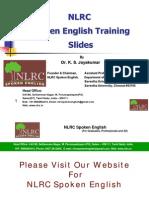 NLRC Spoken English Training Slides in Tamil - New Method for Fluency