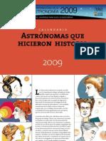 Calendario mujeres astronomas