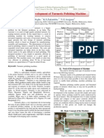 Design and Development of Turmeric Polishing Machine