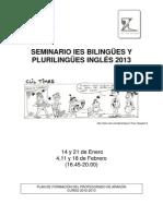 Seminario IES bilingües y plurilingües (inglés)