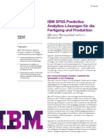 IBM SPSS Predictive Analytics Lösungen für die Fertigung und Produktion