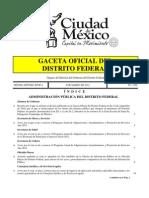 Gaceta Oficial del Distrito Federal - 9 de marzo de 2012