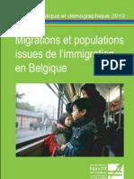 Migrations Et Populations Issues de L'Immigration en Belgique
