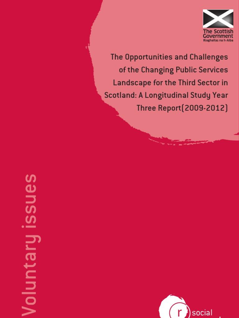 Scottish Government Third Sector Longitudinal Study - Year 3