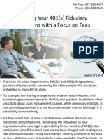 Meeting Your 401(k) Fiduciary Obligations with a Focus on Fees