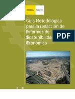 Guía Metodológica para la redacción de Informes de Sostenibilidad Económica