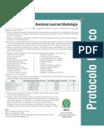 Protocolo para Anestesia Odontológica