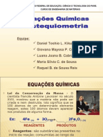 Equacoes Quimicas e Estequiometria