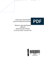 Vantage Airport Group (UK) Directors' Report & Financial Statements (2011)