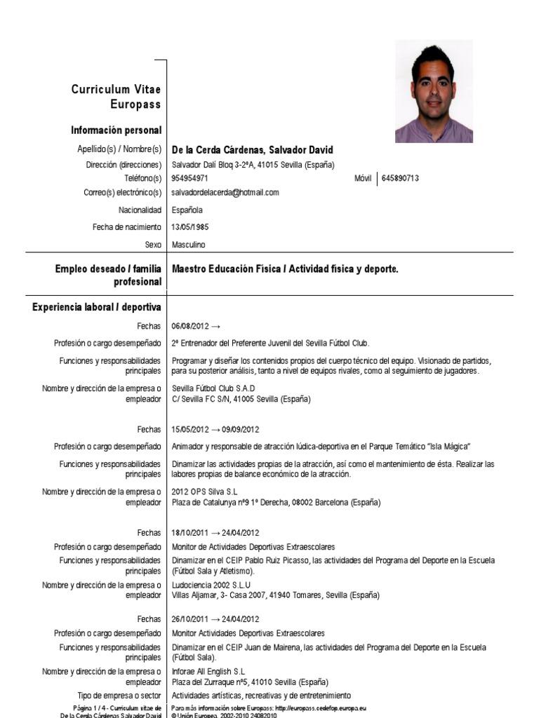 Vistoso Esl Profesor Curriculum Vitae Pdf Festooning - Colección De ...