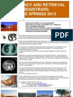 Alice Springs Hospital Emergency and Retrieval Registrars