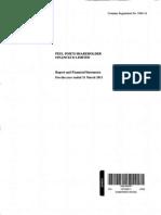 Peel Ports Shareholder FinanceCo Directors' Report & Financial Statements (2011)