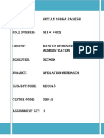 Operations Research MB0048