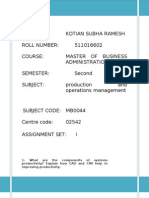 Production Operations Management MB0044