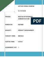 Project Management- MB0049