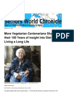 Even More Vegetarian Centenarians Share Their 100 Years of Diet, Food and Longevity Secrets - Vegan Lois Berry's 104th Birthday - Blue Zones