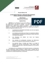 Ley de Obras Publicas y Servicios Relacionados Del Estado De