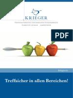 Kanzlei Krieger Wirtschaftsprüfer Steuerberater Rechtsanwälte Frankfurt am Main - Imagebroschüre