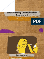 Embarrassing Communication Disasters