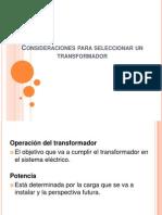 seleccion de un transformador de distribución según su carga