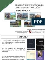Normas Generales y Especificaciones Particulares de Construcción